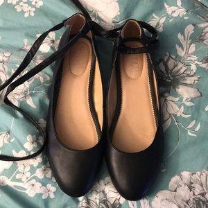 Sz 10 Franco Sarto leather ballet flats